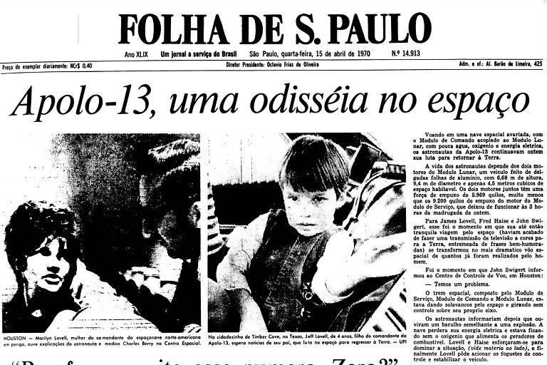 1970: 'Houston, nós temos um problema', diz astronauta