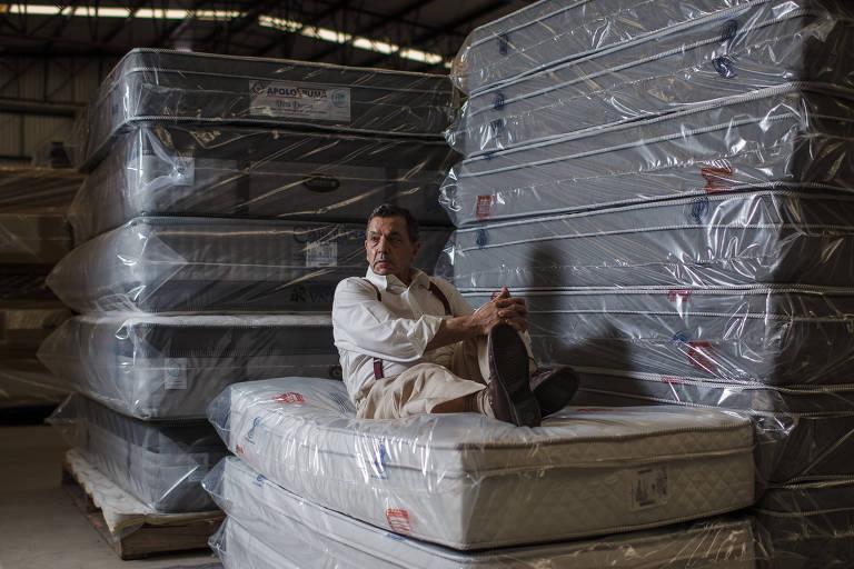 José Carlos (Zito) Christofoletti, que começou como carroceiro e hoje tem fábrica de colchões que exporta para vários países, em imagem de 2017