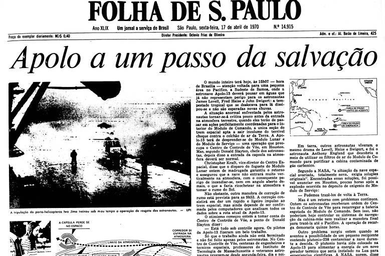 1970: Nasa se mostra otimista para a volta da Apollo 13 à Terra