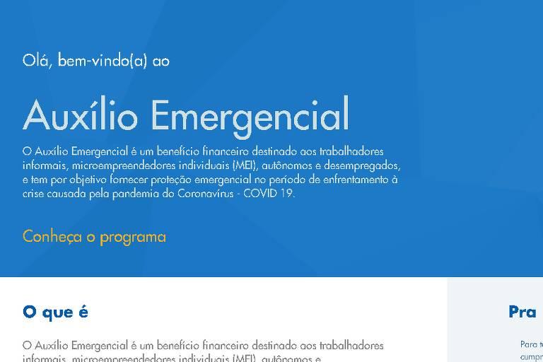 Siga etapa por etapa o seu pedido do auxílio emergencial