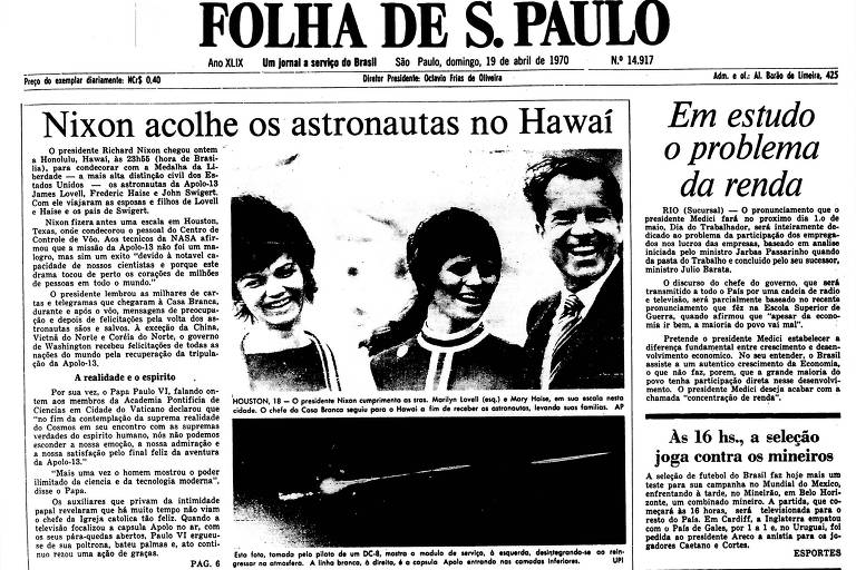 1970: Heróis da Apollo 13 e cientistas de Houston recebem honraria de Nixon