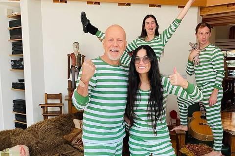 Bruce Willis e Demi Moore juntos na quarentena