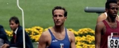 Duas vezes finalista olímpico nos 800 m, o atleta italiano Donato Sabia morreu aos 56 anos em decorrência de infecção pelo novo coronavírus. A notícia foi confirmada pelo Comitê Olímpico Italiano. Foto Divulgação/CONI