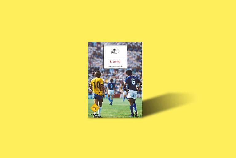 """Capa do livro """"La Partita"""" (A Partida), do italiano Piero Trellini, sobre o Brasil x Itália da Copa do Mundo de 1982"""
