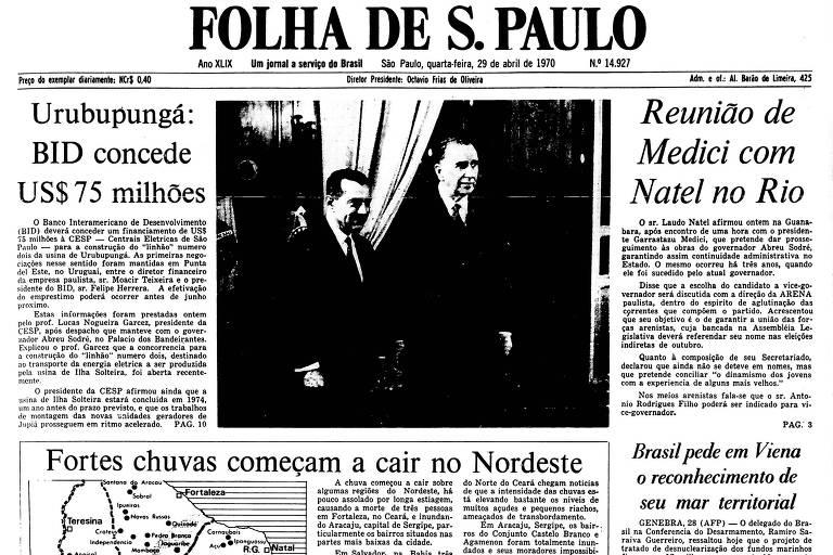 1970: Seleção visita Médici antes de despedida no Maracanã