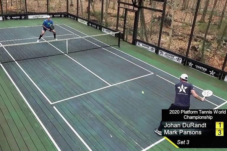 Partida de tênis plataforma transmitida ao vivo pela ESPN3