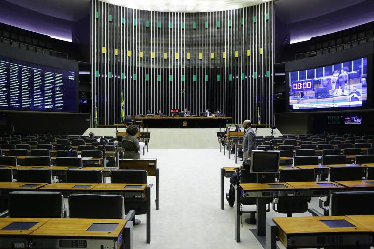 A Câmara dos Deputados, em Brasília, durante a pandemia do novo coronavírus