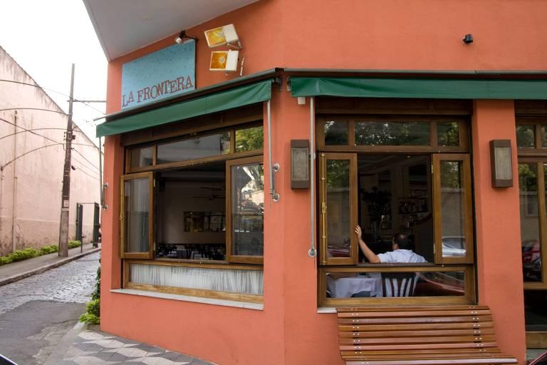 Fachada do restaurante La Frontera, em Higienópolis