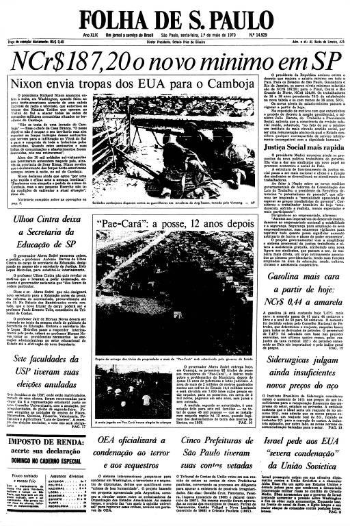 Primeira Página de 1º de maio de 1970