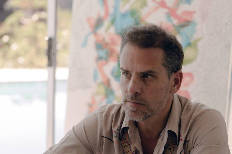 Hunter Biden em seu estúdio de arte em Los Angeles, em novembro de 2018