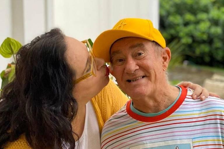 O humorista Renato Aragão e sua esposa, Lilian