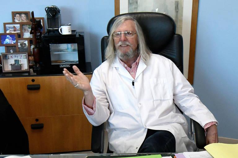 O médico e pesquisador francês Didier Raoult defende o uso de cloroquina no tratamento da Covid-19
