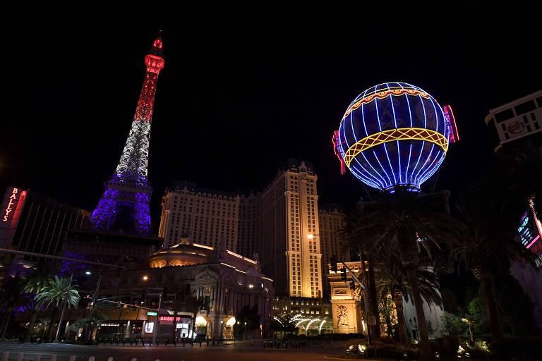 Centro de Las Vegas em meio à pandemia do Covid-19