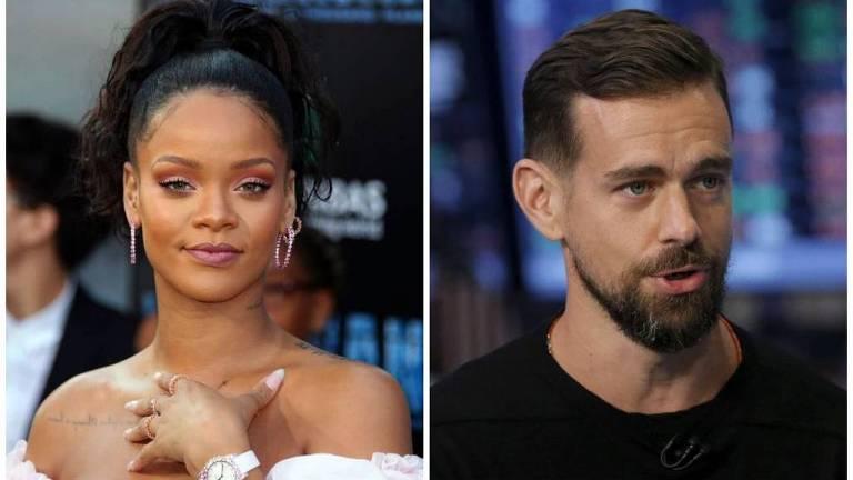 Rihanna se une a Jack Dorsey, do Twitter, para doação
