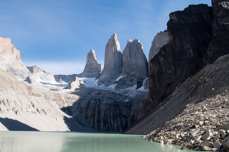 Base de Torres del Paine, no Chile