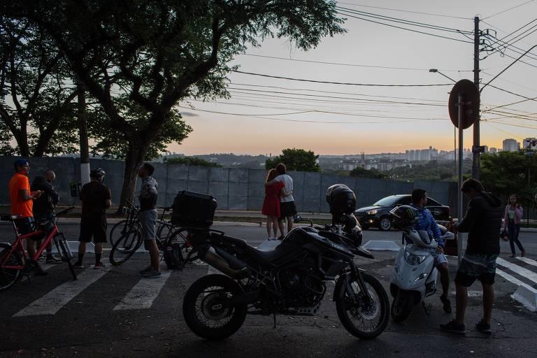 Praças paulistanas durante a quarentena contra o coronavírus