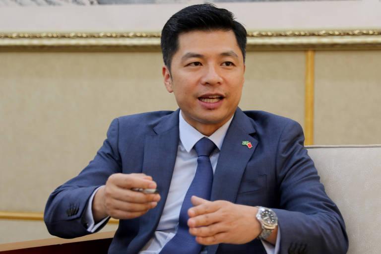 O porta-voz da embaixada da China no Brasil Qu Yuhui