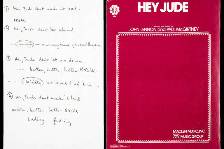 Manuscrito de Paul McCartney