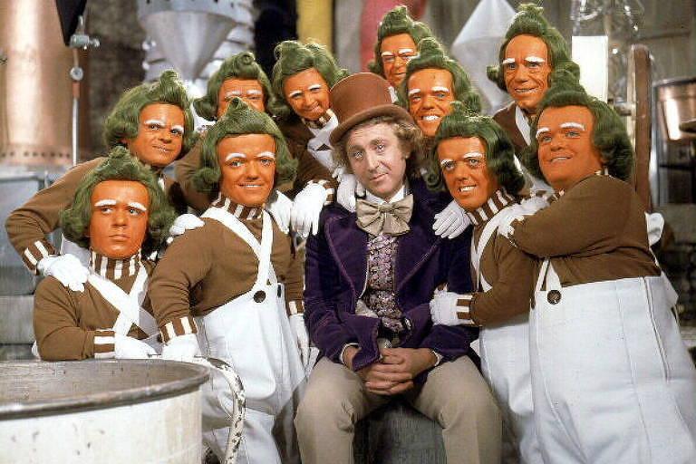 """Gene Wilder em cena do filme """"A Fantástica Fábrica de Chocolate"""""""
