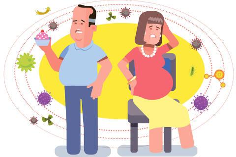 ilustração para a matéria do viva bem de 12 de abril sobre pessoas menos imunes ao covid-19