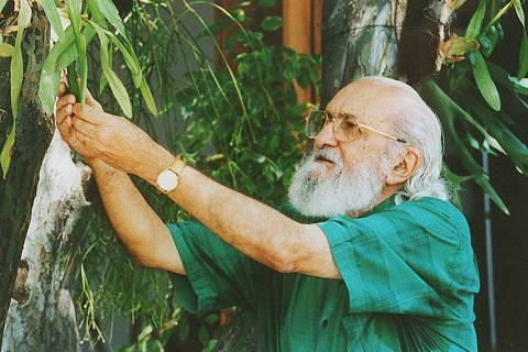 O educador Paulo Freire. [FSP-Ilustrada-11.09.96]*** NÃO UTILIZAR SEM ANTES CHECAR CRÉDITO E LEGENDA***