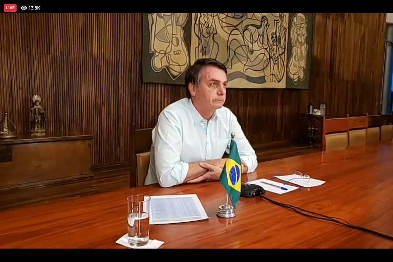 Bolsonaro participa de live de Páscoa com líderes religiosos neste domingo (12)