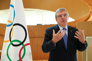 FILE PHOTO: Interview with IOC President Bach after Tokyo 2020 postponement decision