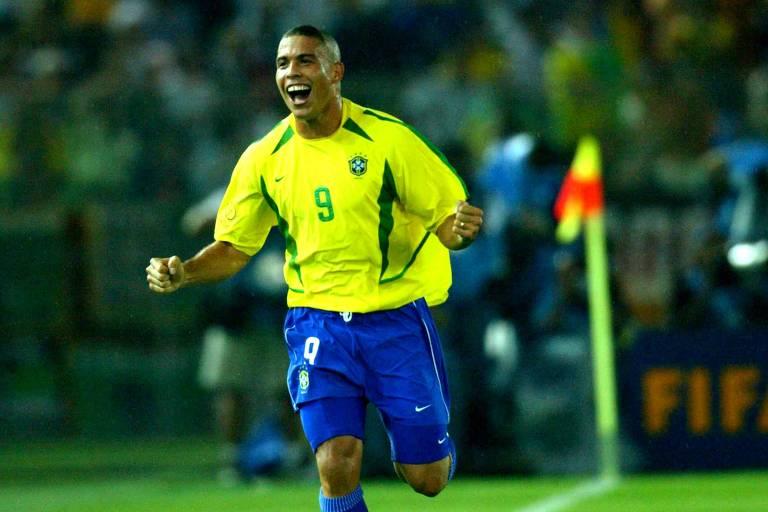 Jogador Ronaldo na final da Copa do Mundo, 2002