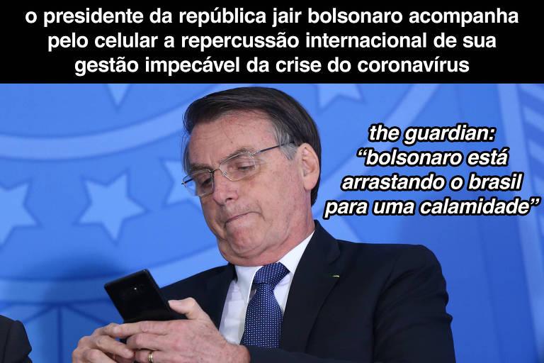 Comparado a ditadores por causa do coronavírus, Bolsonaro se põe a refletir