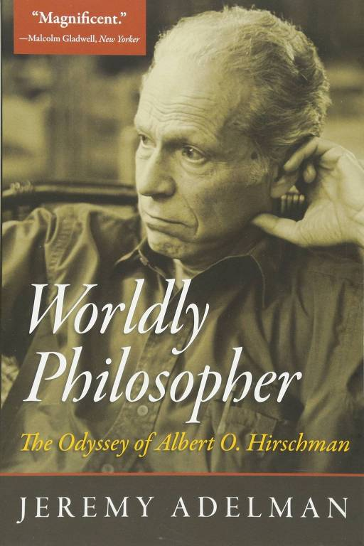 "Capa do livro ""Worldly Philosopher: The Odyssey of Albert Hirschman"""