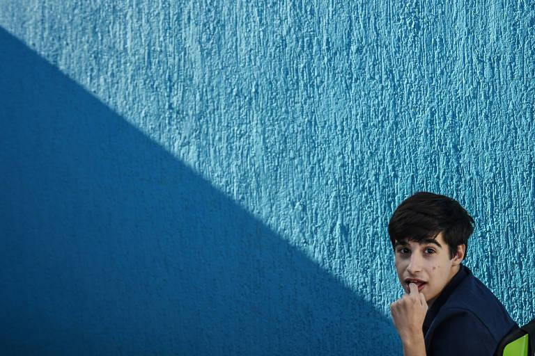 Murilo Ripari, 17, que tem paralisia cerebral leve e teve que mudar a rotina para se adaptar ao isolamento