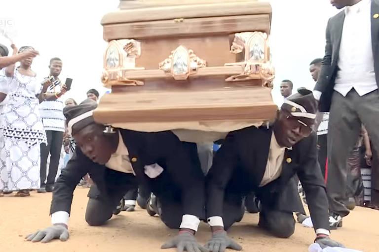 É importante festejar quem morreu, diz dono de funerária de 'meme do caixão'