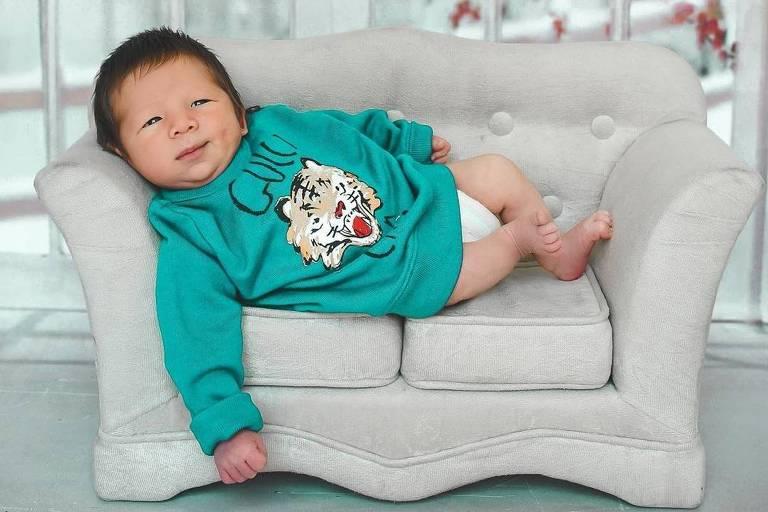 Jake, filho de Pyong Lee e Sammy, nasceu no dia 17 de fevereiro