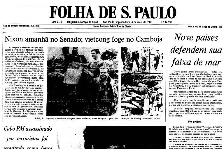 1970: Vietcongues escapam de ataque das tropas americanas no Camboja