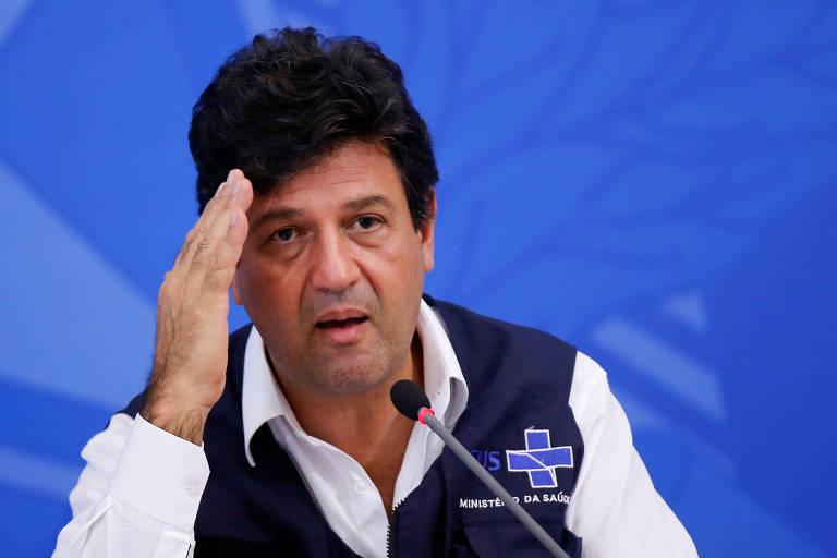 O ministro Luiz Henrique Mandetta (Saúde), em entrevista
