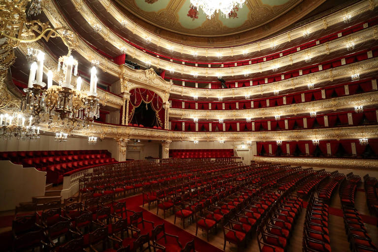 Vista interna do teatro Bolshoi