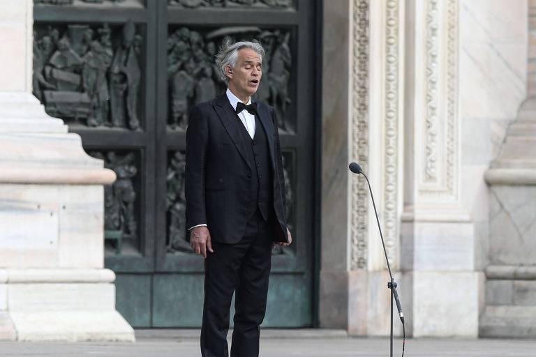 O tenor italiano Andrea Bocelli