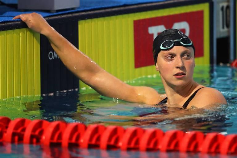A nadadora norte-americana Katie Ledecky se voluntariou para realizar os testes antidoping virtuais