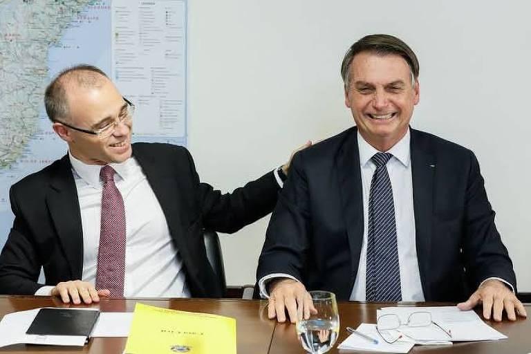 André Mendonça, advogado-geral da União, em live com Jair Bolsonaro em 2019