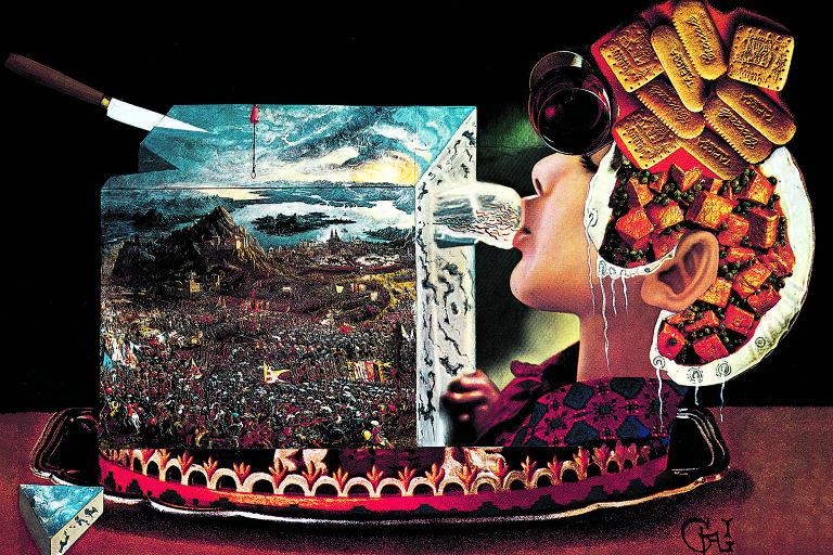 Imagem de 'Les Diners de Gala', obra de Salvador Dalí