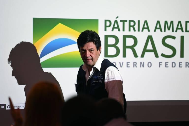 Luiz Henrique Mandetta dá sua última entrevista coletiva à frente do Ministério da Saúde