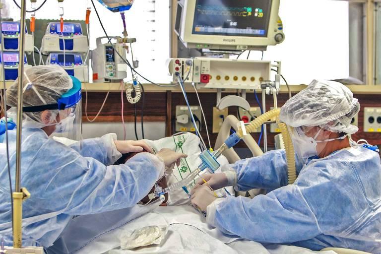 Paciente com Covid-19 é atendido no Hospital de Clínicas de Porto Alegre