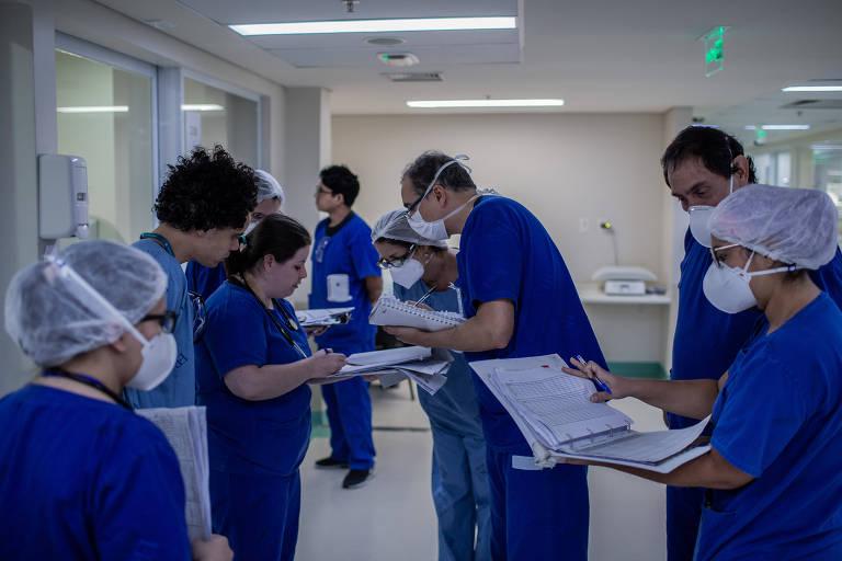 Dentro do Emílio Ribas, durante a pandemia do coronavírus