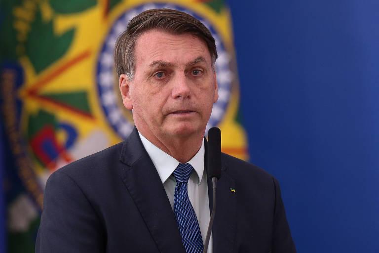 O presidente Jair Bolsonaro, no Planalto