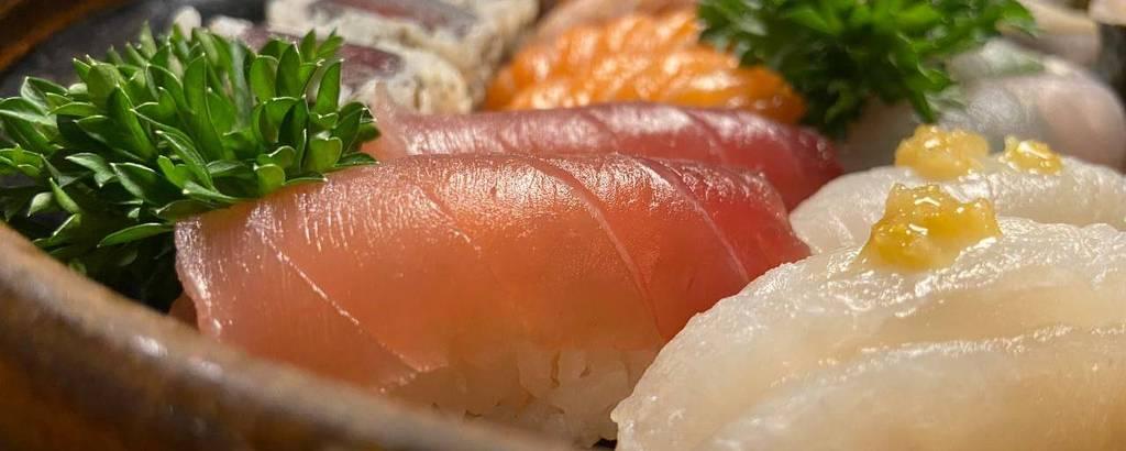 Combinado entregue pelo sushiman Jun Sakamoto