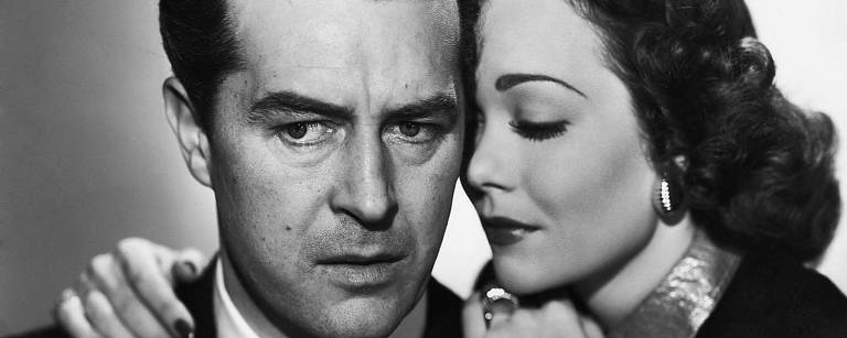 Ray Milland e Jane Wyman em cena do filme 'Farrapo Humano'