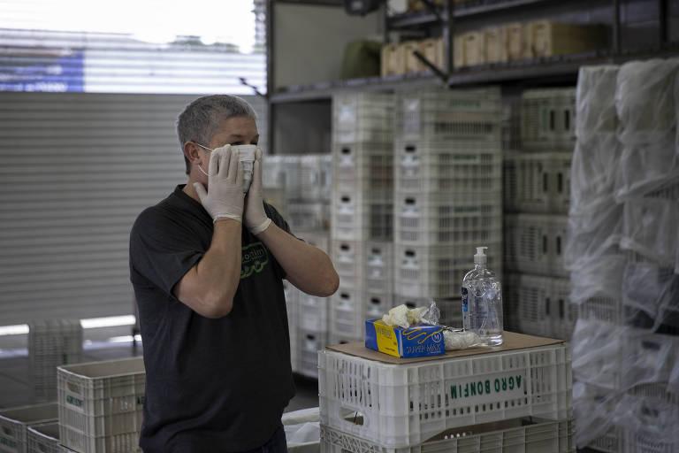 Élcio José de Oliveira, dono da distribuidora de hortifrúti Agrobonfim, que viu seu mercado de restaurantes de alta gastronomia desaparecer com a crise do coronavírus.