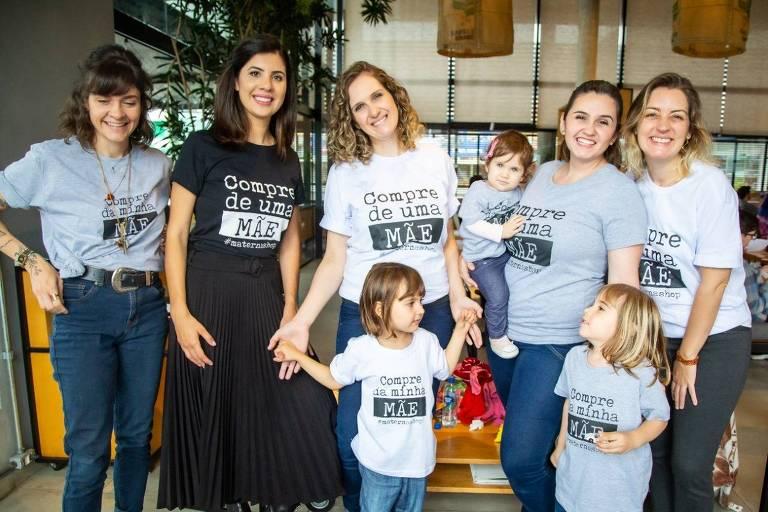 Integrantes do grupo Maternashop, que reúne mães empreendedoras nas redes sociais
