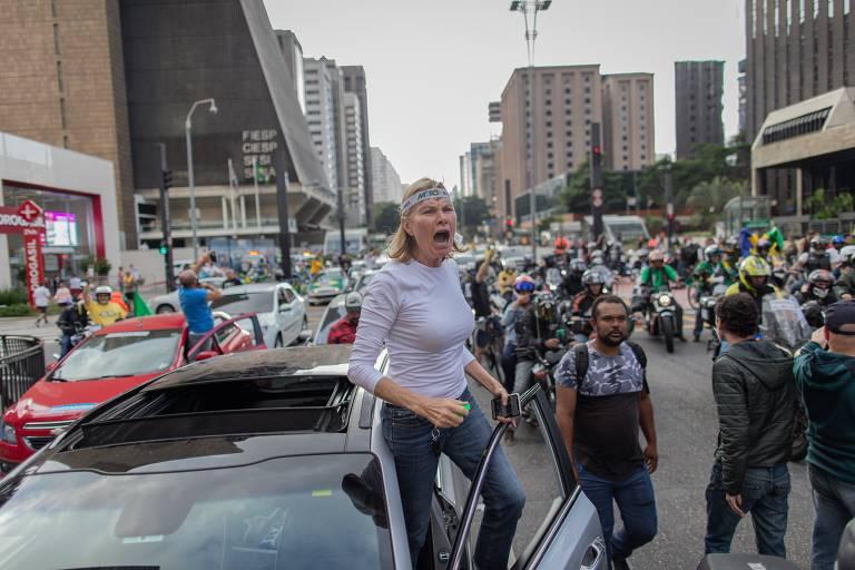 Carreata contra Doria e em apoio a Bolsonaro em São Paulo