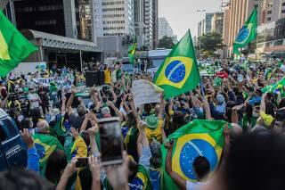 Carreata contra o governador de São Paulo, João Doria